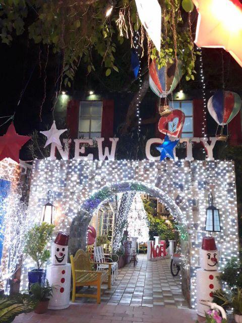 Cafe New City Mỹ Tho - địa điểm chụp hình đẹp mùa Noel
