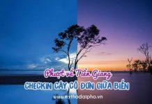 """Phượt về Tiền Giang checkin """"gốc cây cô đơn"""" giữa biển"""