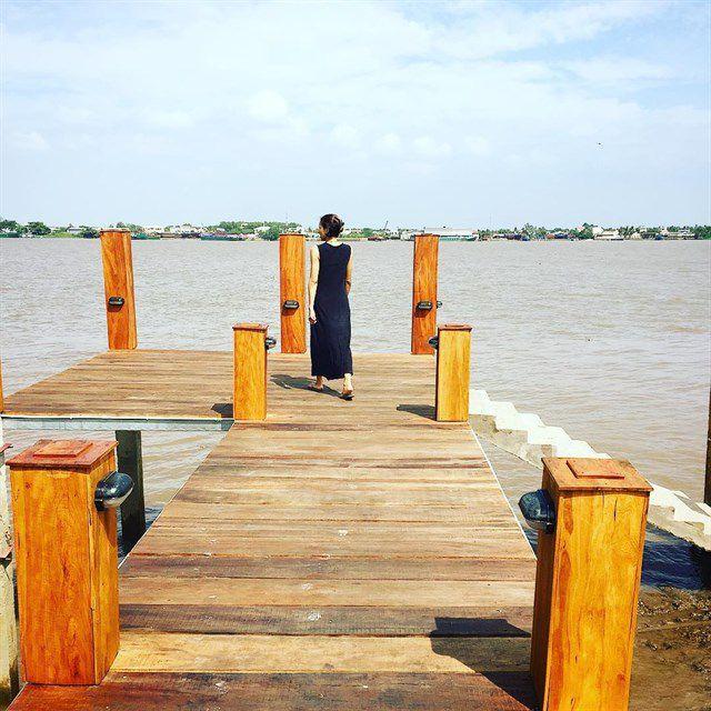 Cầu Tàu cù lao Thới Sơn