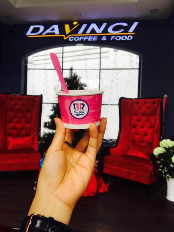 Món kem Baskin Robbin tại DaVinci Coffee and Food Mỹ Tho