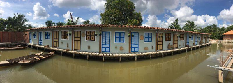 Khu home stay tại Điền Lan Thôn Trang đậm chất sông nước miệt vườn