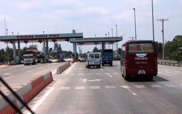 Đường cao tốc TPHCM - Trung Lương, tuyến đường xảy ra vụ tai nạn khiến Thượng úy CSGT tử vong.
