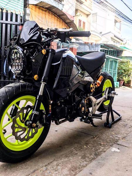 Honda MSX độ lùn dùng để chở heo của Biker Mỹ Tho