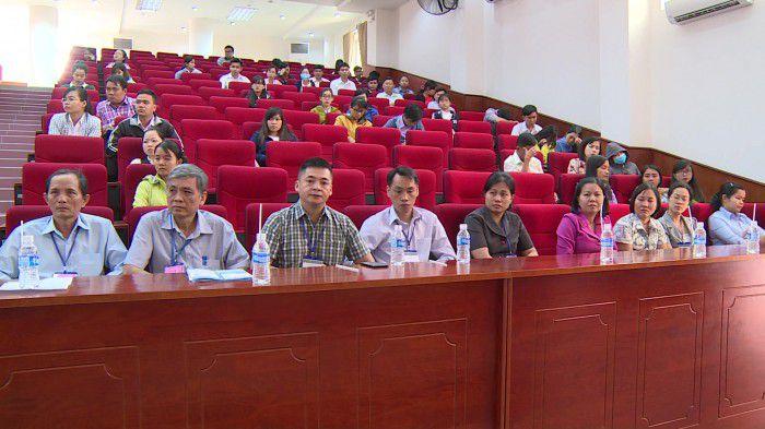 Lễ khai mạc kỳ thi tuyển công chức tỉnh Tiền Giang năm 2017. Ảnh: Việt Bình