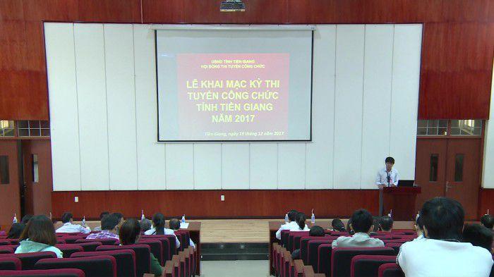 Khai mạc kỳ thi tuyển công chức tỉnh Tiền Giang năm 2017