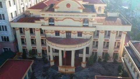TAND tỉnh Tiền Giang - nơi xử vụ án chỉ có 1 bị cáo nhưng có đến 37 luật sư xin tham gia bào chữa.