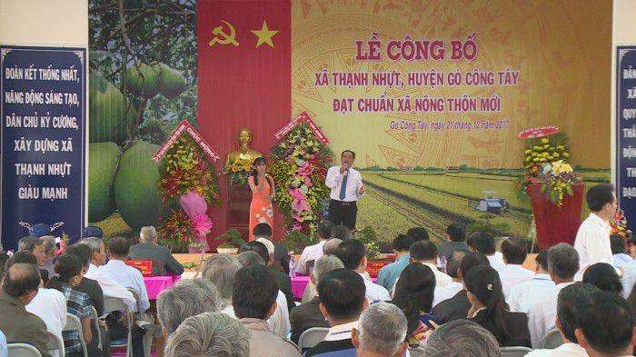 Xã Thạnh Nhựt, huyện Gò Công Tây ra mắt xã nông thôn mới