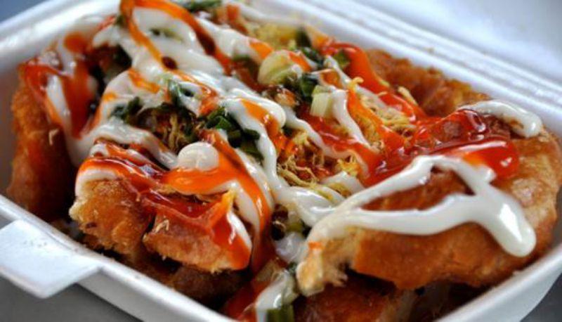 Ăn vặt Tiền Giang - Bánh mì nướng muối ớt