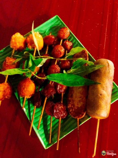 Ăn vặt Tiền Giang - Xiên que nướng
