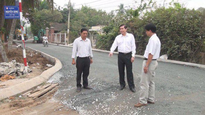 Chủ tịch UBND tỉnh Tiền Giang tiếp tục kiểm tra tiến độ các công trình giao thông ở Tp. Mỹ Tho
