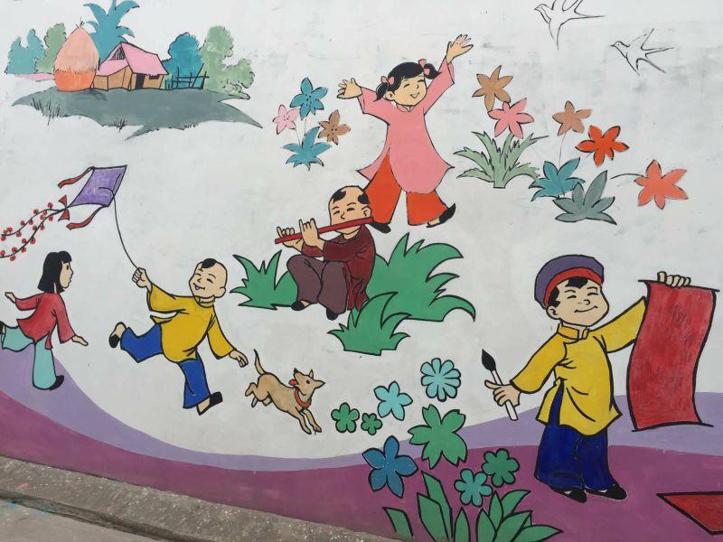 """Con đường bích họa """"Phố Ông Đồ"""" Mỹ Tho - Tiền Giang chào đón Tân Xuân 2018"""