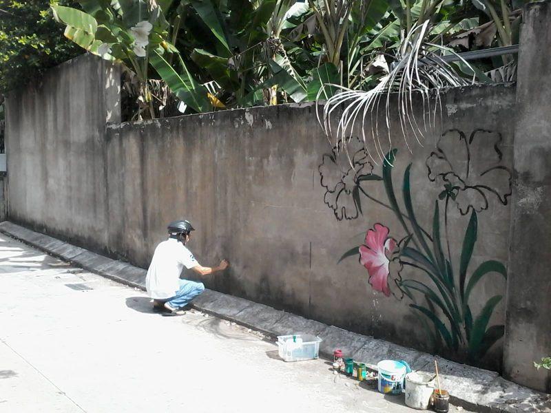 """Con đường bích họa """"Phố Ông Đồ"""" Mỹ Tho - Tiền Giang"""