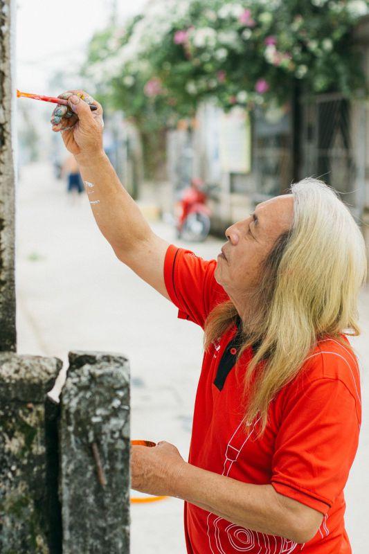 Họa sĩ Hoàng Anh - tác giả con đường bích họa Phố Ông Đồ - Mỹ Tho, Tiền Giang