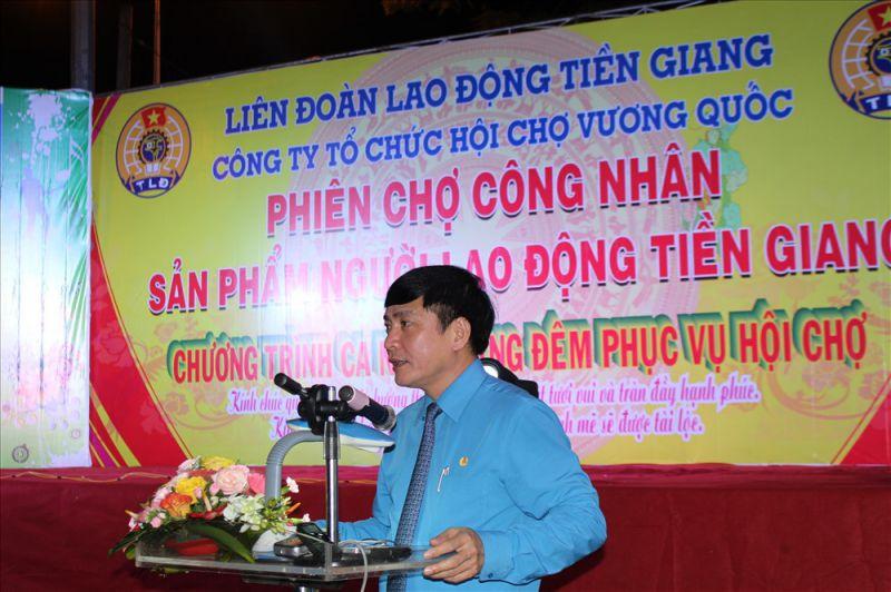 Chủ tịch Tổng LĐLĐVN phát biểu tại lễ khai mạc.