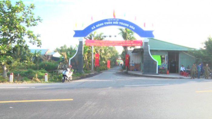 Cổng chào xã nông thôn mới Thanh Hòa.