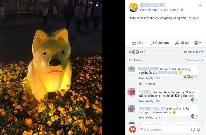 """Biểu tượng chó """"không giống cho"""" ở đường hoa Mỹ Tho"""