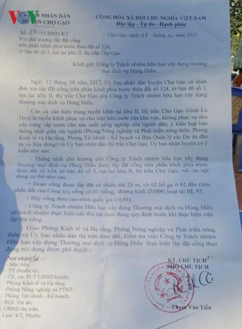 Xe khách Hùng Hiếu bị xử phạt do dựng lấn chiếm hành lang an toàn