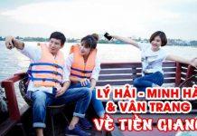 Vợ chồng Lý Hải - Minh Hà cùng Vân Trang về Tiền Giang du lịch miệt vườn