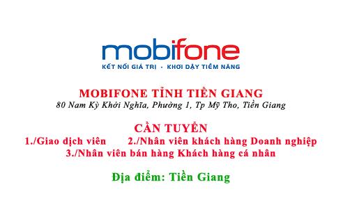 MOBIFONE TỈNH TIỀN GIANG TUYỂN DỤNG
