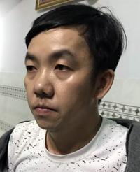 Cường lúc bị bắt hôm 17/9. Ảnh: Tiền Giang.
