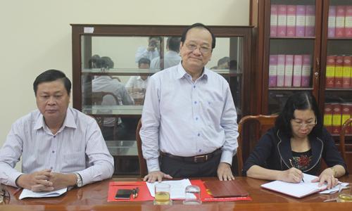 Phó Chủ tịch UBND tỉnh Trần Thanh Đức phát biểu tại buổi làm việc.