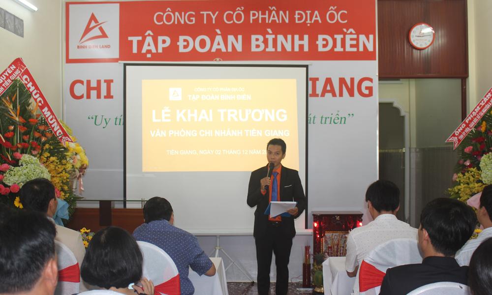 Lễ khai trương Công ty cổ phần địa ốc Tập đoàn Bình Điền Văn phòng chi nhánh Tiền Giang.