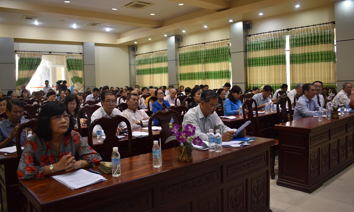 Đại biểu tham dự hội nghị tổng kết hoạt động của Hội Bảo trợ