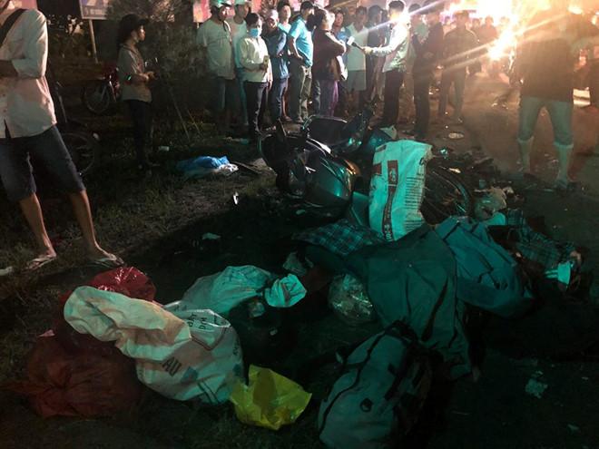 Xe container tông hàng chục xe máy chờ đèn đỏ ở Bến Lức: Danh tính nạn nhân - ảnh 3