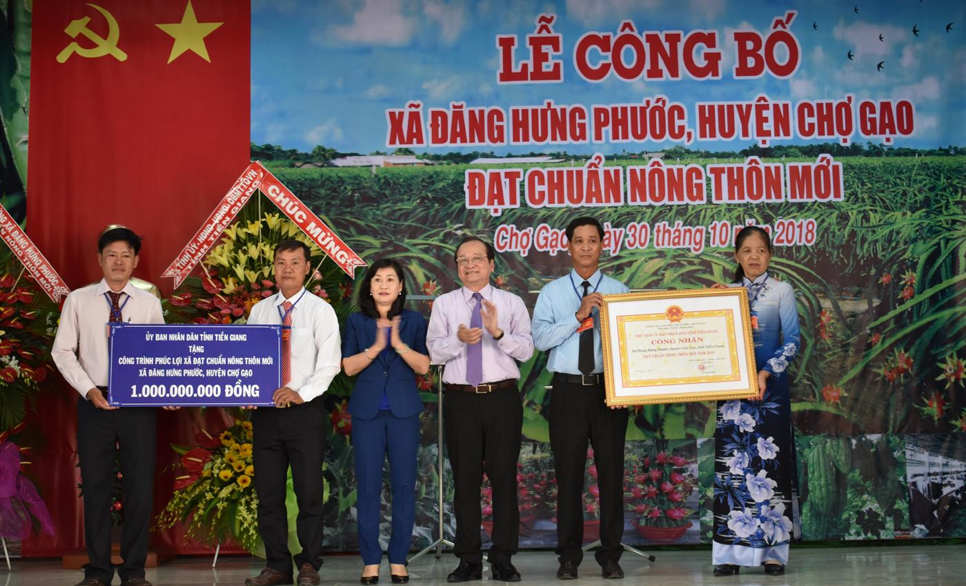 Xã Đăng Hưng Phước đạt xã NTM vào năm 2018